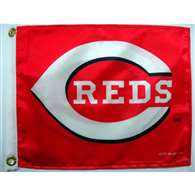 "Boat/Golf Cart 14"" X 15"" Cincinnati REDS GOLF CART FLAG"