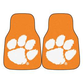 Clemson University  2-pc Carpet Car Mat Set