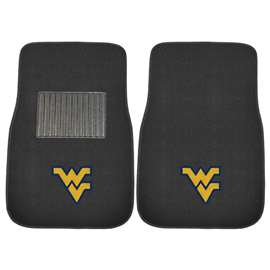 West Virginia University 2-pc Embroidered Car Mat Set Front Car Mats