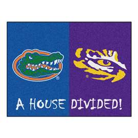 House Divided: Florida / LSU  House Divided Mat Rug, Carpet, Mats