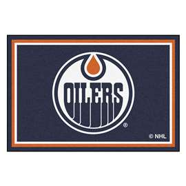 NHL - Edmonton Oilers Rug Carpet Mats 59.5 X 88 Inches