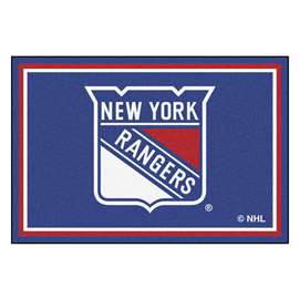 NHL - New York Rangers Rug Carpet Mats 59.5 X 88 Inches