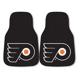 NHL - Philadelphia Flyers 2-pc Carpet Car Mat Set Front Car Mats