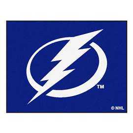 NHL - Tampa Bay Lightning Rug Carpet Mats 33.75 X 42.5 Inches