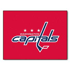 NHL - Washington Capitals Rug Carpet Mats 33.75 X 42.5 Inches