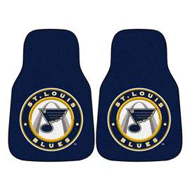 NHL - St. Louis Blues 2-pc Carpet Car Mat Set Front Car Mats