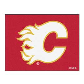 NHL - Calgary Flames Rug Carpet Mats 33.75 X 42.5 Inches