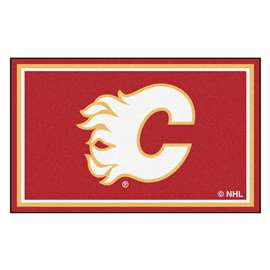 NHL - Calgary Flames Rug Carpet Mats 44 X 71 Inches