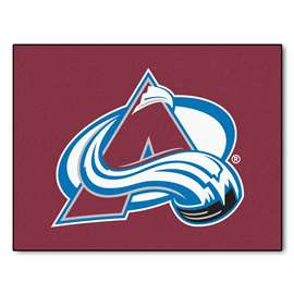 NHL - Colorado Avalanche Rug Carpet Mats 33.75 X 42.5 Inches