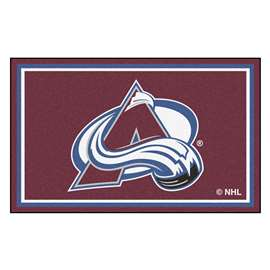 NHL - Colorado Avalanche Rug Carpet Mats 44 X 71 Inches