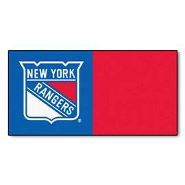 NHL - New York Rangers Team Carpet Tiles Carpet Tile Flooring