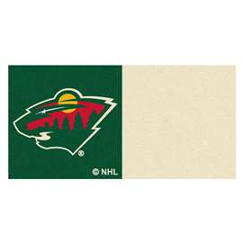 "NHL - Minnesota Wild Rug, Carpet, Mats 18""x18"" tiles"