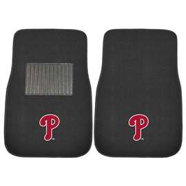 MLB - Philadelphia Phillies 2-pc Embroidered Car Mat Set Front Car Mats