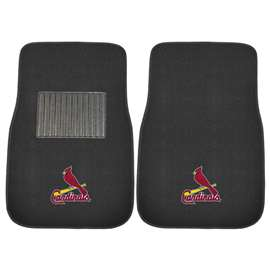 "MLB - St. Louis Cardinals 2-pc Embroidered Car Mats 18""x27""  2-pc Embroidered Car Mat Set"