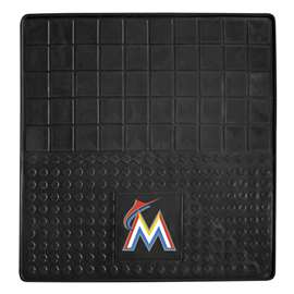 MLB - Miami Marlins Heavy Duty Vinyl Cargo Mat Trunk Mats