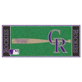 "MLB - Colorado Rockies Baseball Runner 30""x72""  Baseball Runner"