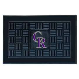 "MLB - Colorado Rockies Door Mat 19.5""x31.25""  Medallion Door Mat"