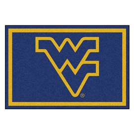 West Virginia University 5x8 Rug Plush Rugs