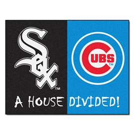 "MLB - White Sox - Cubs House Divided Rug 33.75""x42.5""  House Divided Mat"