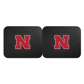 University of Nebraska  2 Utility Mats Rug Carpet Mat