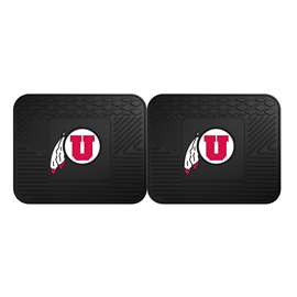University of Utah 2 Utility Mats Rear Car Mats