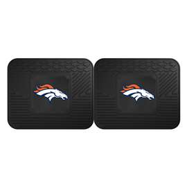 NFL - Denver Broncos 2 Utility Mats Rear Car Mats