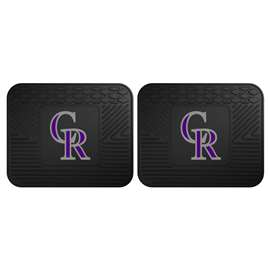 "MLB - Colorado Rockies 2-pc Utility Mat 14""x17""  2 Utility Mats"