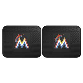 MLB - Miami Marlins 2 Utility Mats Rear Car Mats