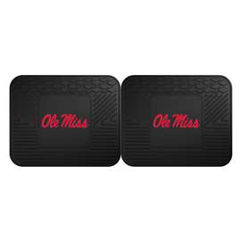 University of Mississippi (Ole Miss)  2 Utility Mats Rug Carpet Mat