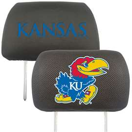 University of Kansas Head Rest Cover Automotive Accessory