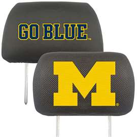University of Michigan Head Rest Cover Automotive Accessory