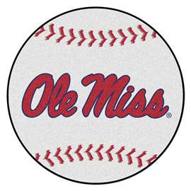 University of Mississippi (Ole Miss)  Baseball Mat Rug Carpet Mats