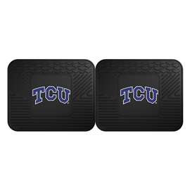 Texas Christian University  2 Utility Mats Rug Carpet Mat