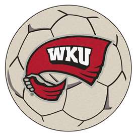Western Kentucky University  Soccer Ball Mat, Rug , Carpet