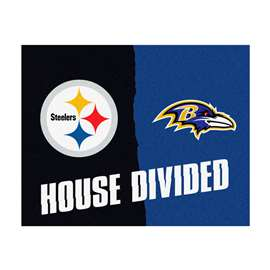 NFL House Divided - Steelers / RavensFloor Rug Mats