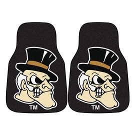 Wake Forest University  2-pc Carpet Car Mat Set