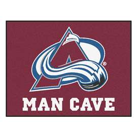 "NHL - Colorado Avalanche Mat, Rug Carpet 33.75""x42.5"""