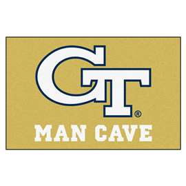 Georgia Tech  Man Cave Starter Mat, Rug Carpet
