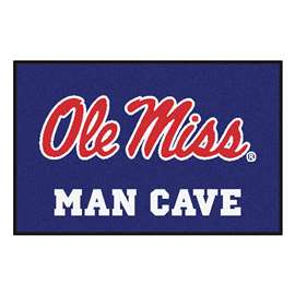 University of Mississippi (Ole Miss)  Man Cave Starter Mat, Rug Carpet