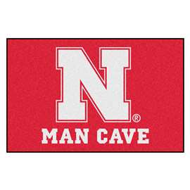 University of Nebraska  Man Cave Starter Mat, Rug Carpet