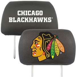 NHL - Chicago Blackhawks Head Rest Cover Automotive Accessory