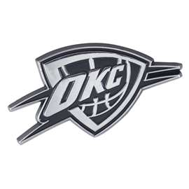 NBA - Oklahoma City Thunder Chrome Emblem Auto Emblem