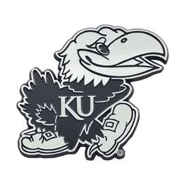 University of Kansas Chrome Emblem Auto Emblem
