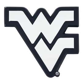 West Virginia University Chrome Emblem Auto Emblem