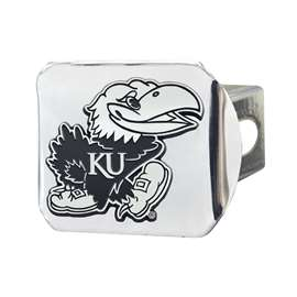 University of Kansas Chrome Hitch - Chrome Hitch Covers