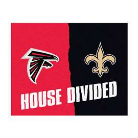 NFL House Divided - Falcons / SaintsFloor Rug Mats