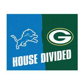 NFL House Divided - Lions / Packers House Divided Mat Rectangular Mats