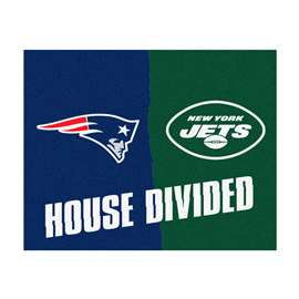 NFL House Divided - Patriots / JetsFloor Rug Mats