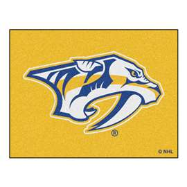 NHL - Nashville Predators Rug Carpet Mats 33.75 X 42.5 Inches