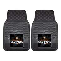 Houston Astros 2017 World Series Champions 2-pc Heavy Duty Vinyl Car Mat Set